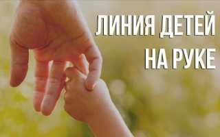 Линия детей в хиромантии